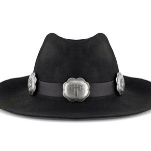 UNIF wide brim belted CONCHO hat